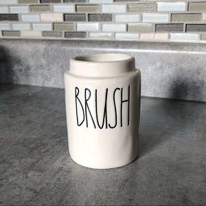 NWT Rae Dunn BRUSH holder -bathroom collection